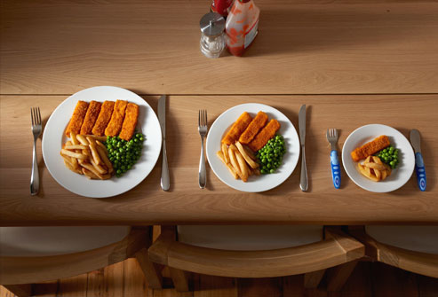 What are some good ways of controlling portion sizes?
